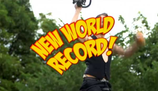 The Space Cowboy breaking another Guinness World Record!